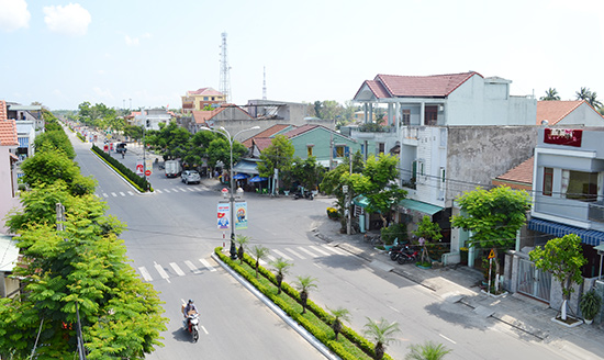 Đô thị mới Điện Bàn ngày càng hoàn thiện hạ tầng.Ảnh: CÔNG TÚ