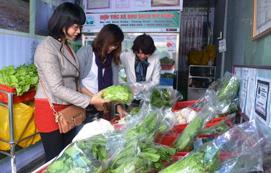 Sản phẩm rau sạch Mỹ Hưng cung ứng ra thị trường.