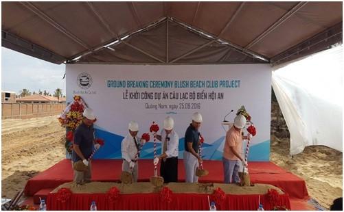 Groundbreaking ceremony of Blush Beach Club project