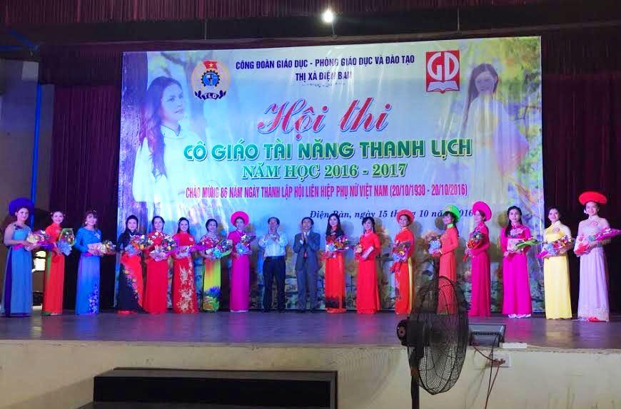 16 cô giáo tiêu biểu xuất sắc tại Hội thi.