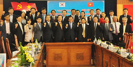 The delegation of JVPF in Quang Nam province.
