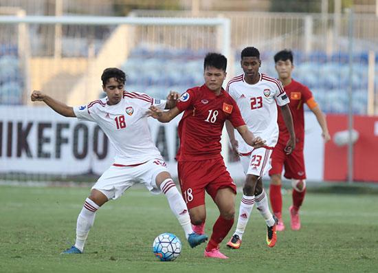 Các cầu thủ U19 Việt Nam đã có màn trình diễn chói sáng. ảnh: VFF