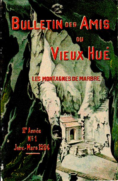 Trang bìa chuyên khảo Les montagnes de marbre của Albert Sallet, nội dung được tham khảo từ tác phẩm Ngũ Hành Sơn lục.