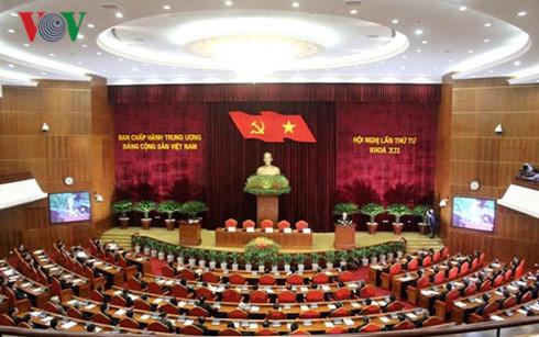Toàn cảnh hội nghị lần thứ 4 Ban Chấp hành Trung ương Đảng khóa XII.