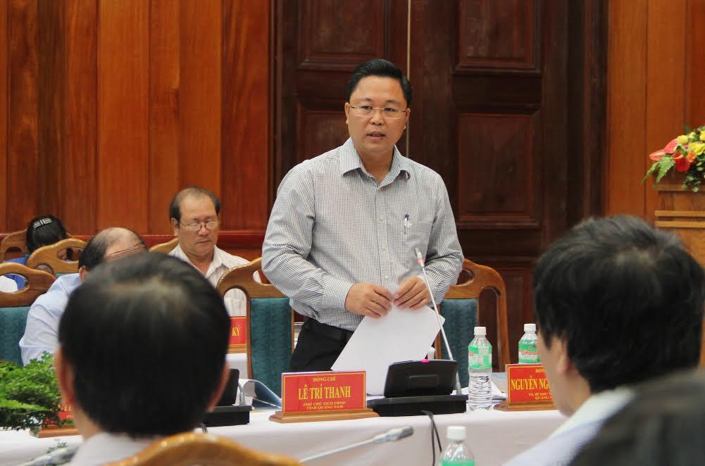 Ông Lê Trí Thanh – Phó chủ tịch UBND tỉnh Quảng Nam tham dự và phát biểu tại hội thảo.