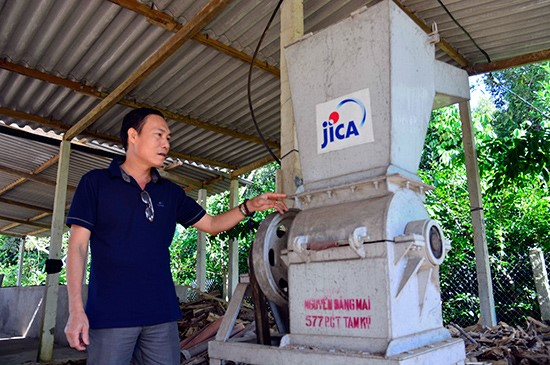 Agarwood grinder sponsored by JICA to Tien Phuoc Agarwood Association.
