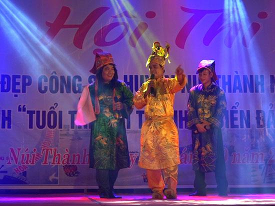 Hội thi Nét đẹp công sở tạo nên hiệu hứng lan tỏa trong việc tuyên truyền cải cách hành chính của huyện Núi Thành. Ảnh: Đ.YÊN