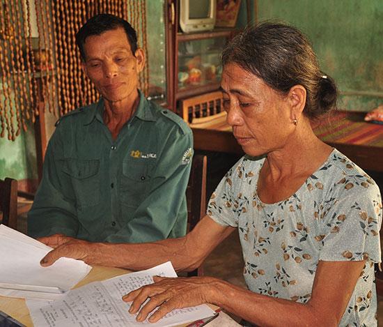 Theo bà Nguyễn Thị Thơ, do mâu thuẫn về đất đai nên gia đình ông Trần Võ đã đánh bà gây thương tích. Ảnh: H.G