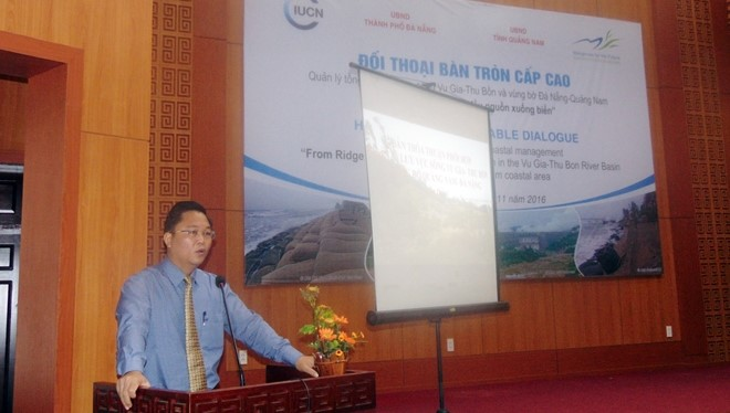 Mr. Le Tri Thanh, Deputy Chairman of Quang Nam People's Committee at the event