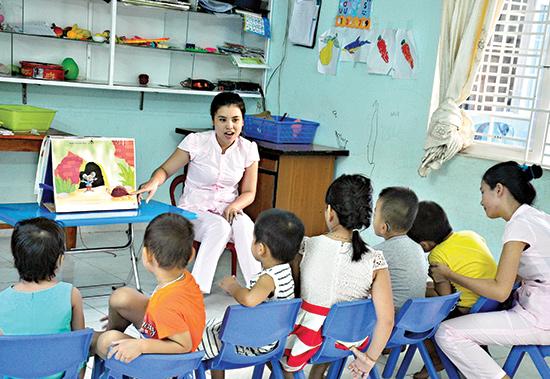 Trẻ mắc hội chứng rối loạn tự kỷ được chăm sóc, giáo dục tại Cơ sở Bảo trợ xã hội Thiện Nhân. Ảnh: V.A