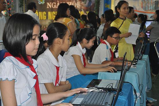 Tam Kỳ đặt mục tiêu nâng cao chất lượng giáo dục với mục tiêu giữ vững trong tốp đầu cả tỉnh. Ảnh: X.P