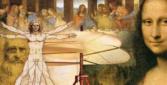 Bản vẽ giải phẫu học và tranh họa của Leonardo Da Vinci. Nguồn: Internet