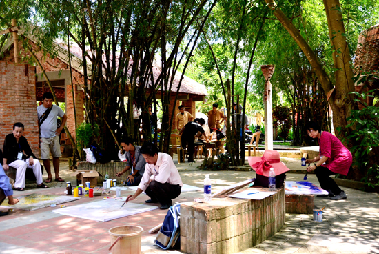 Công viên trở thành địa điểm sáng tác nghệ thuật của giới nghệ sỹ.