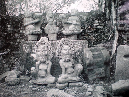 Some sculptures at Dong Duong Buddhist Institute (dantri.com.vn)