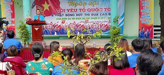 Lễ phát động thi đua trong đoàn viên thanh niên thị xã Điện Bàn. Ảnh: HC