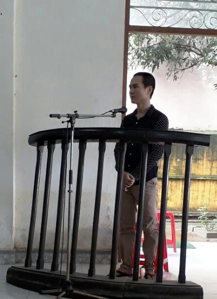 Bị cáo Nguyễn Chí Công tại phiên tòa. Ảnh: S.T