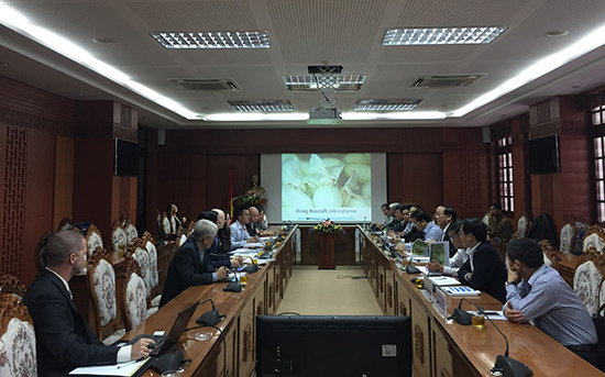 The meeting of KBL's and Quang Nam's leaders