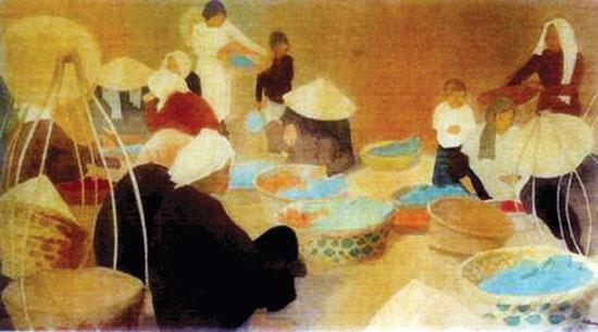 Tác phẩm Cảnh phố chợ Đông Dương của Nguyễn Tường Tam, tức nhà văn Nhất Linh, đã bán với giá 75.000USD.