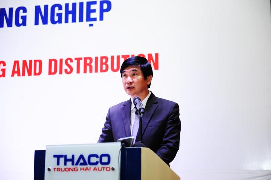 Bí thư Tỉnh ủy Nguyễn Ngọc Quang phát biểu tại lễ ký kết. Ảnh: MINH HẢI