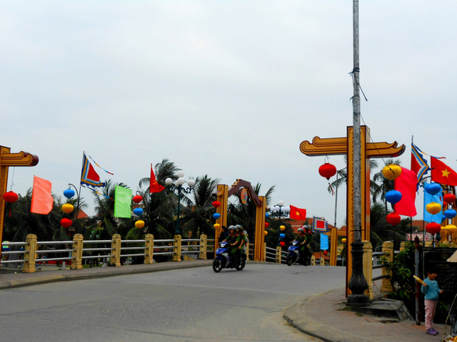 Streets are decorated with lanterns, an attractive feature of Hoi An.
