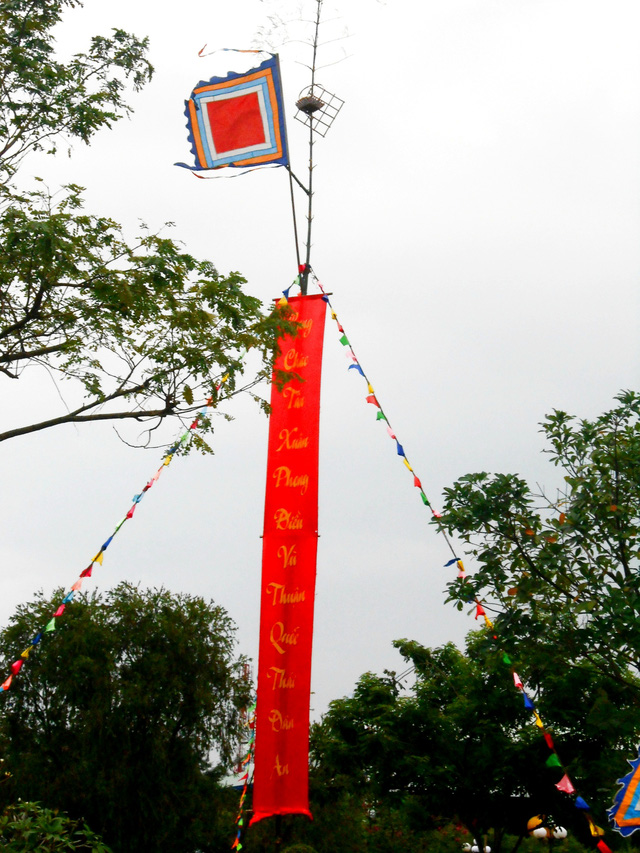 The Neu tree at Tet, a unique cultural feature of the Vietnamese