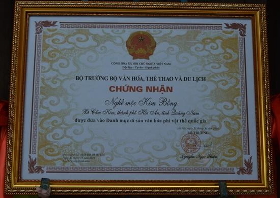 Làng nghề đã được Bộ VH,TT&DL công nhận Di sản phi vật thể