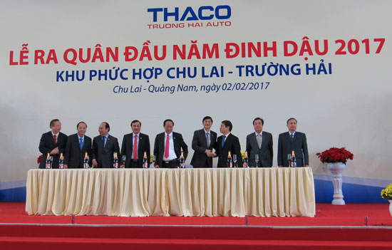New year launching ceremony at the Chu Lai-Truong Hai Complex.