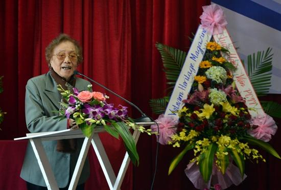 Bà Nguyễn Thị Bình được mời làm chủ tịch danh dự của Viện