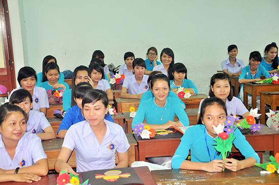 Đào tạo sư phạm tại Trường Cao đẳng Kinh tế - kỹ thuật Quảng Nam. Ảnh: N.ÁNH