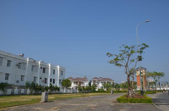 Một góc làng châu Âu bờ đông sông Hàn do Sun Group đầu tư.Ảnh: N.T.B
