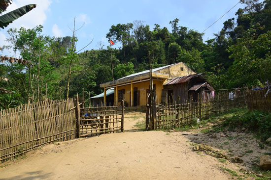 Điểm trường nóc ông Ní, thôn 2, xã Trà Vân. Ảnh: THANH THẮNG
