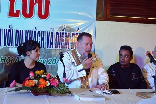"""Chủ tịch Hiệp hội đầu bếp thế giới Thomas Andeas Gugler cũng sẽ trao giấy chứng nhận """"Hội An – Thủ phủ ẩm thực của Việt Nam"""""""