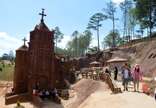 Clay tunnel, an attractive destination in Da Lat city, Lam Dong province