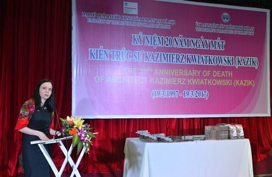 Polish Ambassador to Ha Noi- Barbara Szymaowska at the anniversary