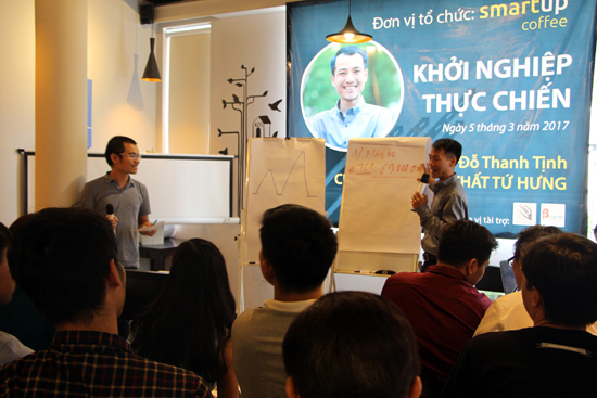 Đỗ Thanh Tịnh chia sẻ kiến thức, kinh nghiệm khởi nghiệp với người trẻ ngày 5.3 vừa qua.  ảnh: Nhân vật cung cấp