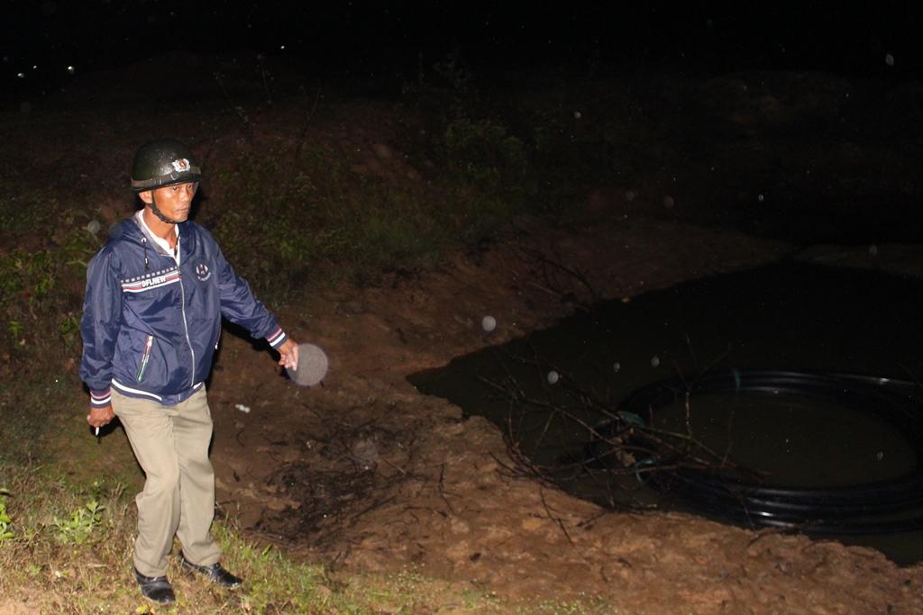 Hố nước nơi xảy ra vụ tai nạn khiến hai em nhỏ thương vong
