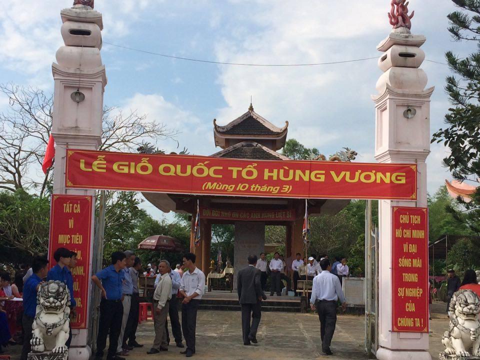 Khu văn hóa truyền thống làng Trừng Giang (xã Điện Trung) nơi tổ chức lễ dâng hương. Ảnh: T.M
