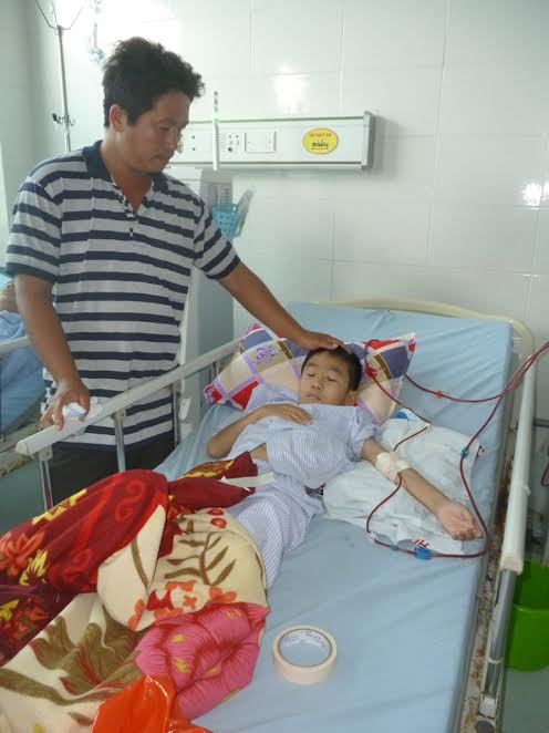 Anh Trương Văn Võ rất lo lắng về số phận của con mình