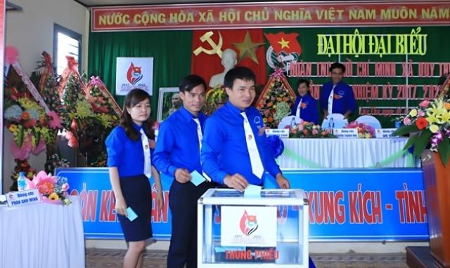 Đại hồi Đoàn TNCS Hồ Chí Minh xã Duy Thu, huyện Duy Xuyên. Ảnh: M.L