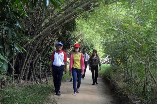 A road in Triem Tay community-based tourism village. Photo: K.L