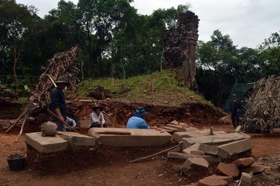 Các hiên vật khai quật được tại nhòm tháp H
