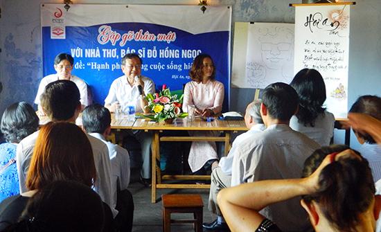 Nhà thơ, bác sĩ Đỗ Hồng Ngọc giao lưu với văn nghệ sĩ trí thức Quảng Nam, Đà Nẵng