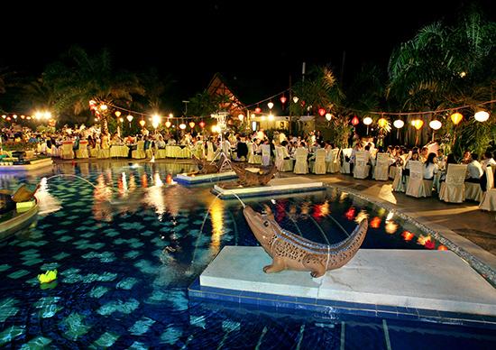 Khách sạn Palm Garden, nơi tổ chức nhiều hoạt động liên quan đến MICE.Ảnh: K.L