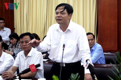 Bộ trưởng Nguyễn Xuân Cường kêu gọi sự chung tay giải cứu ngành thịt lợn.