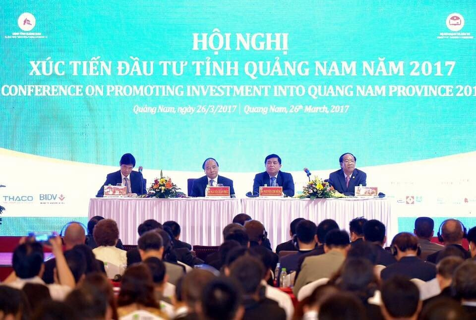 Conference on promoting investment into Quang Nam province 2017. Picture: mientrungland