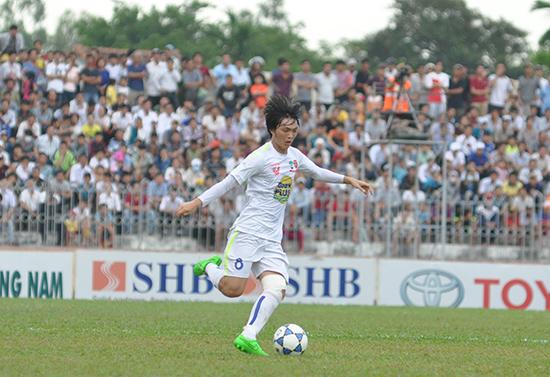 Tuấn Anh là một trong những niềm hy vọng lớn nhất của đội U22 Việt Nam tại SEA Games 29. Ảnh: AN NHI