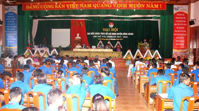 Đại hội Đoàn TNCS Hồ Chí Minh huyện Đông Giang lần thứ XVI, nhiệm kỳ 2017 - 2022. Ảnh: M.L