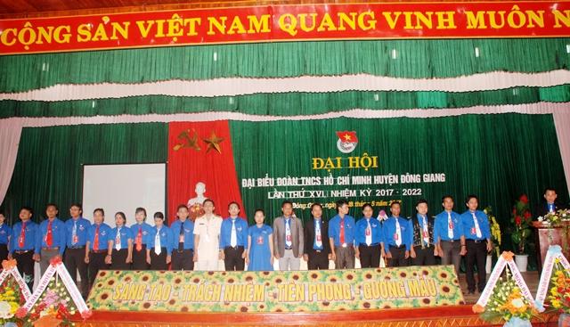 Ban Chấp hành Huyện đoàn Đông Giang khóa XVI, nhiệm kỳ 2017 - 2022. Ảnh: M.L