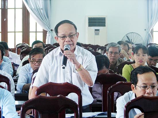 Ông Phan Tấn Nghị - Phó Chánh Thanh tra tỉnh cho rằng, ngoài kiện toàn nhân sự, cần thường xuyên tập huấn bồi dưỡng kỹ năng công tác kiểm tra Đảng cho đội ngũ làm công tác này. Ảnh: NG.ĐOAN