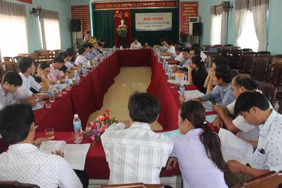 Hội nghị giao ban công tác xuất khẩu lao động sáng ngày 9.6. Ảnh: D.LỆ